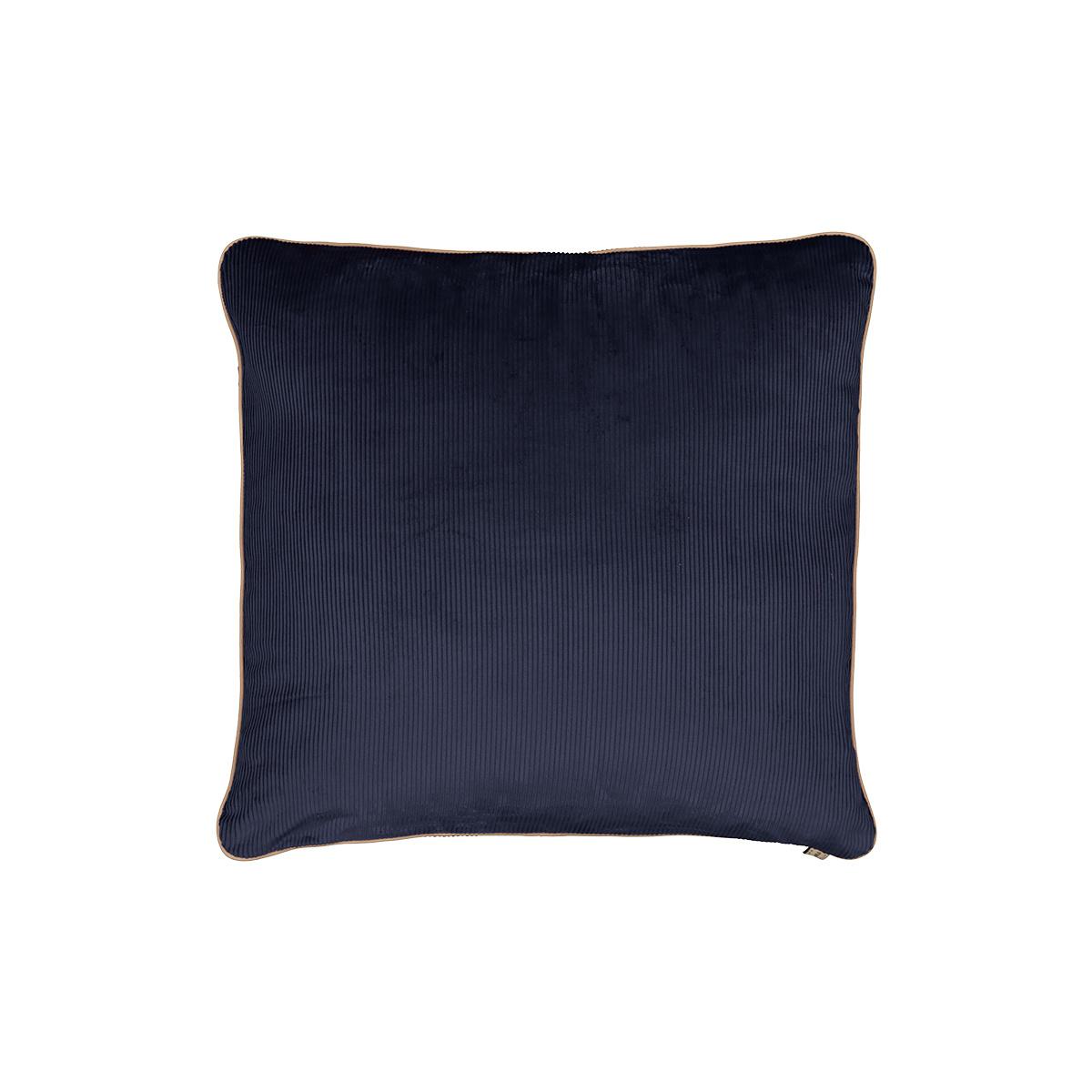 Carino Cushion, Navy Blue Corduroy Velvet