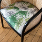Cavallo Armchair, Banana Tree Print with Black Lacquered Frame