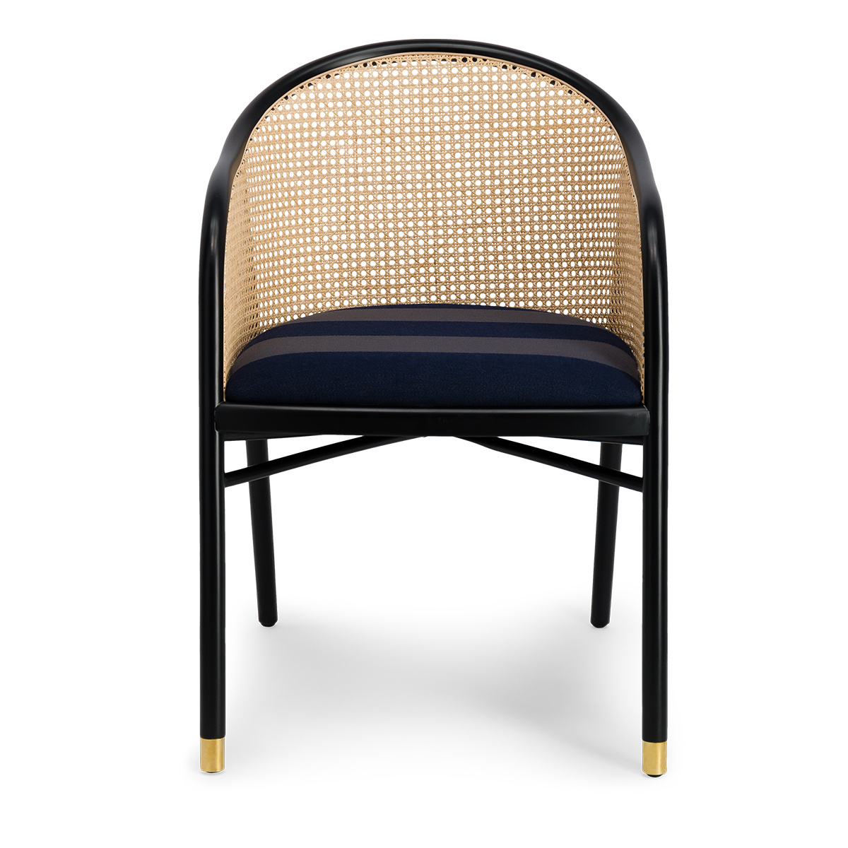 Cavallo Armchair, Kvadrat / Raf Simons Navy Blue Wool with Black Lacquered Beechwood Frame - Limited Edition