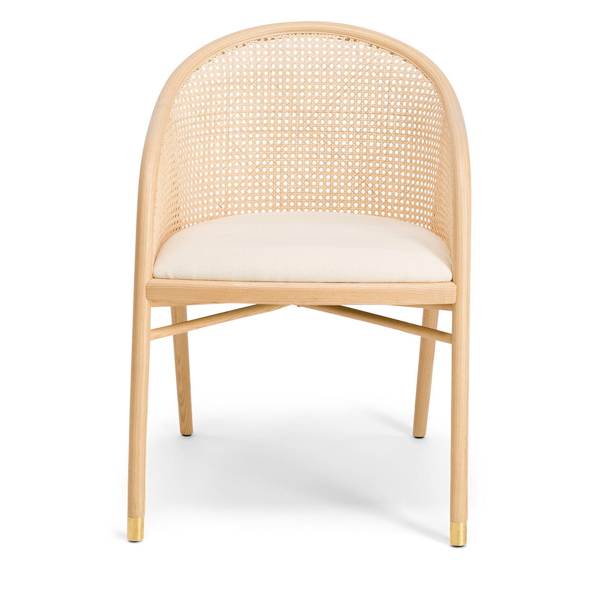 Cavallo Armchair, Kvadrat / Raf Simons White Cream Wool with Natural Frame - Limited Edition