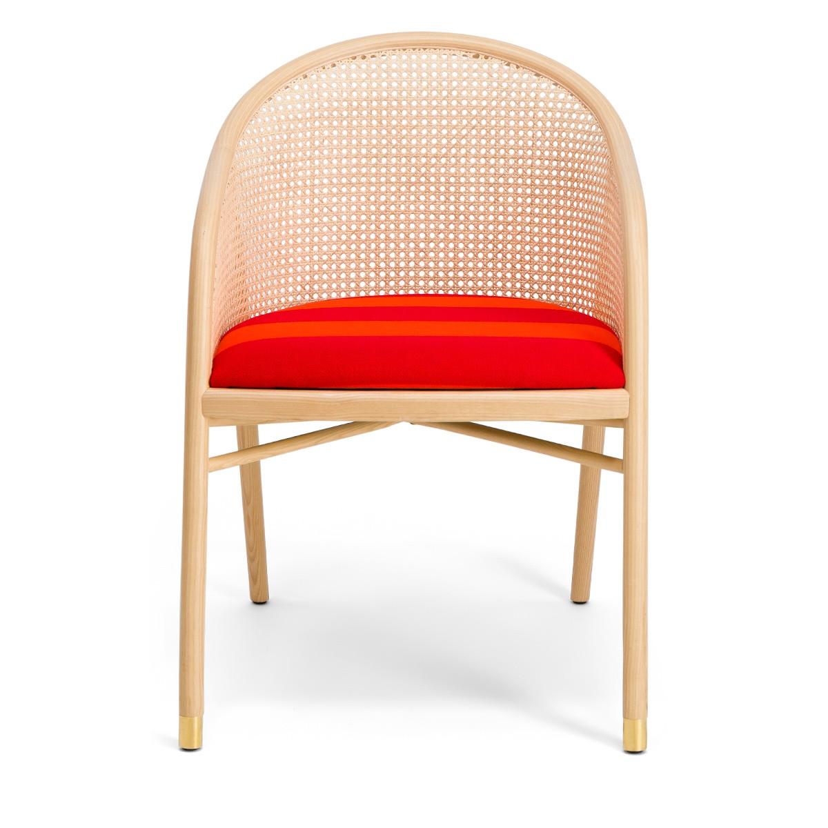 Cavallo Armchair, Kvadrat / Raf Simons Orange Wool with Natural Frame - Limited Edition