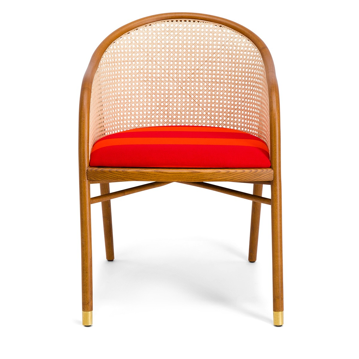 Cavallo Armchair, Kvadrat / Raf Simons Orange Wool with Cherrywood Frame - Limited Edition
