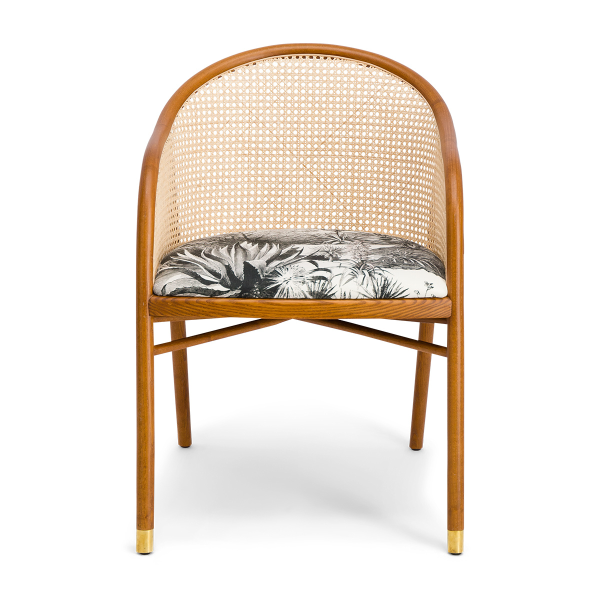 Cavallo Armchair, Pampa Print with Cherrywood Frame