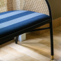 Cavallo Sofa, Kvadrat / Raf Simons Navy Blue Wool with Black Lacquered Beechwood Frame - Limited Edition