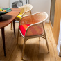 Cavallo Armchair, Kvadrat / Raf Simons Orange Wool with Natural Frame - Limited Edition
