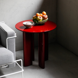 Carlotta Red Side Table