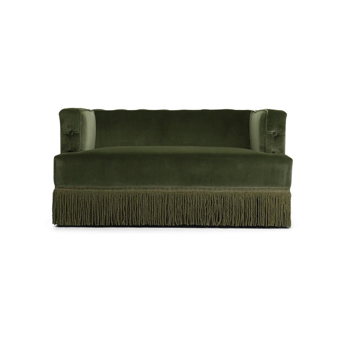 Nonna Sofa, Fir Green Velvet