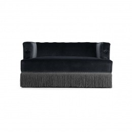 Nonna Sofa, Navy Blue Velvet