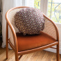 Bomboloni cushion with precious red and gold pattern