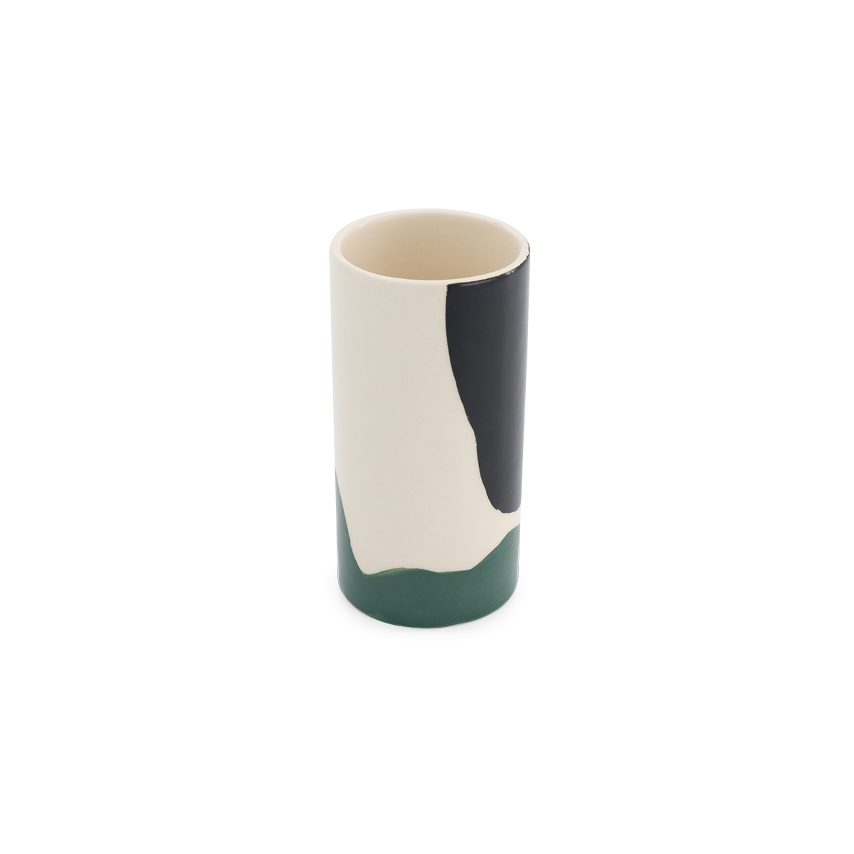 Domino pot small model with black and green pattern