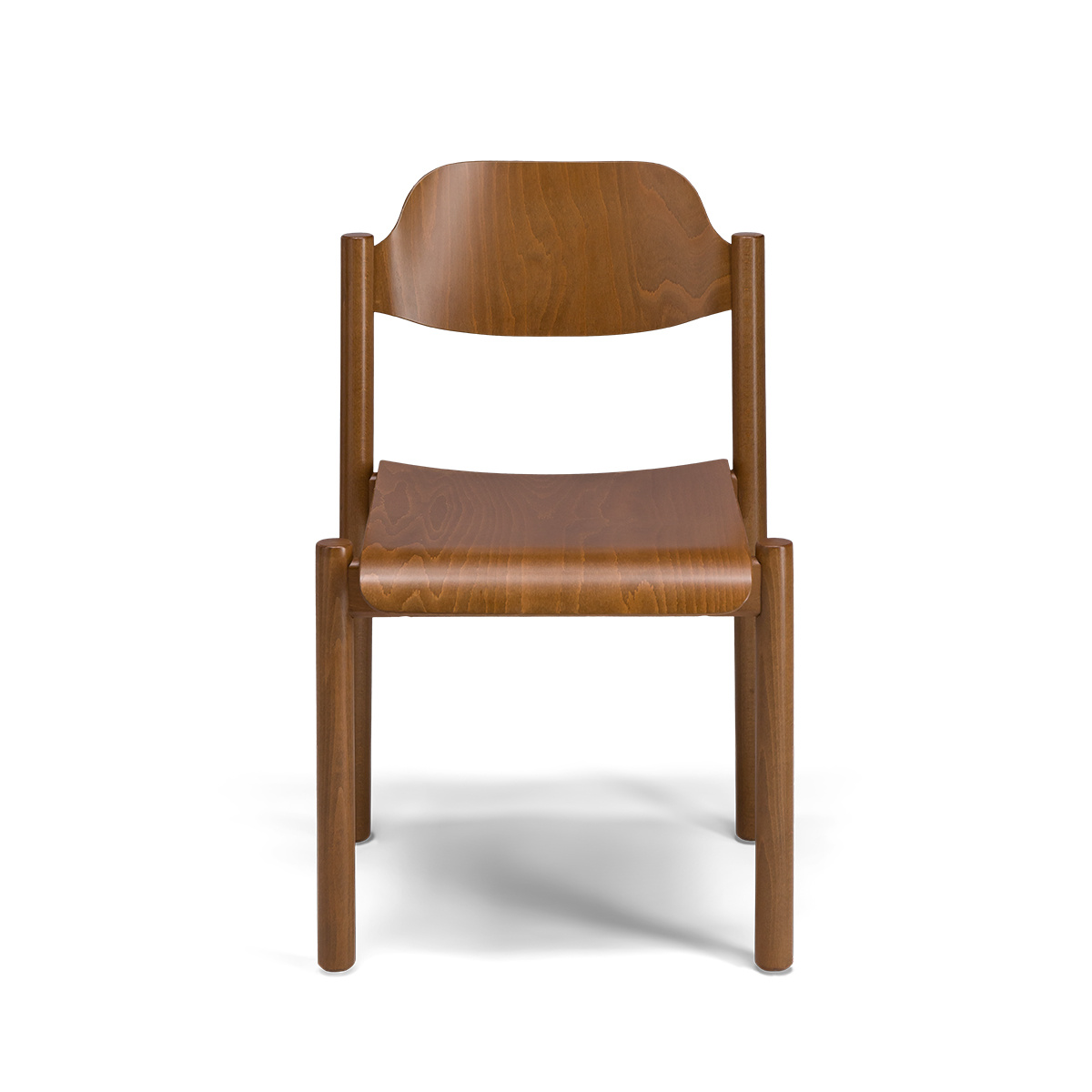 Achille chair in brown wood