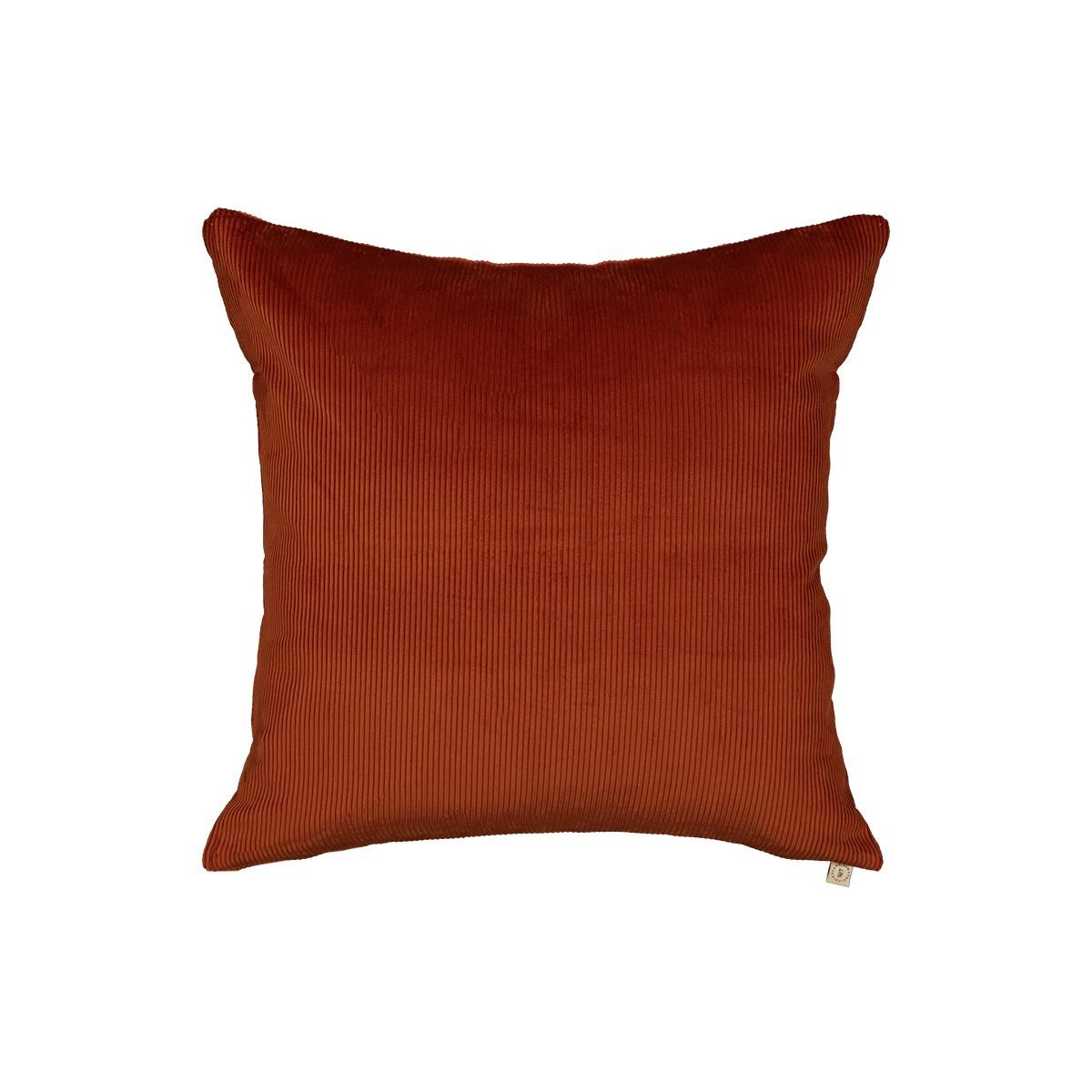 Carino cognac corduroy cushion
