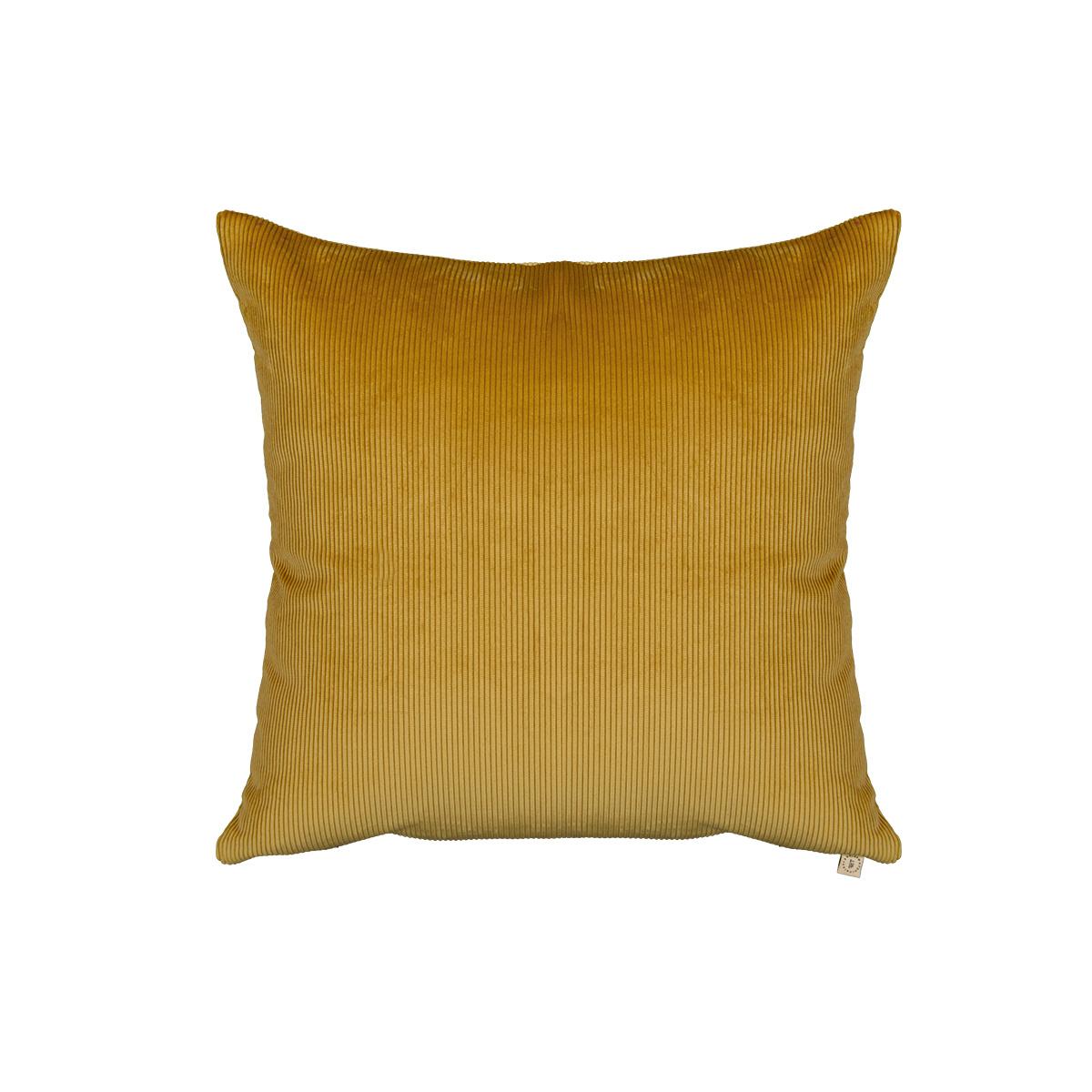 Carino mustard corduroy cushion
