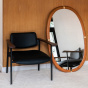 Marcello ash mirror with cherrywood finish