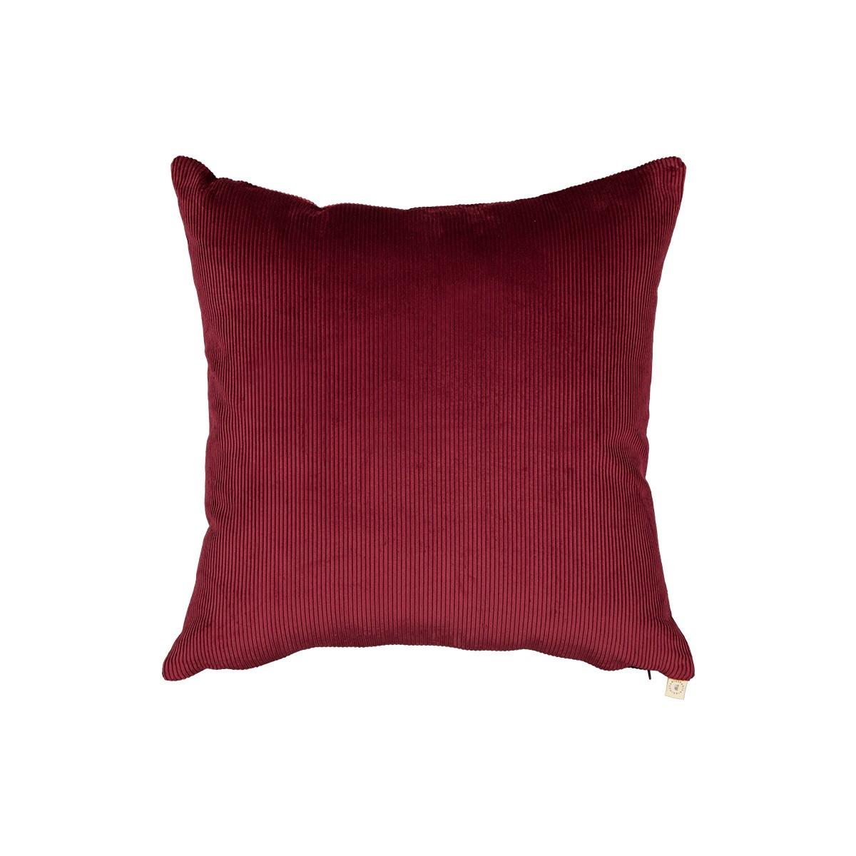 Carino plum corduroy cushion