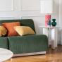 Rotondo modular sofa in almond green corduroy