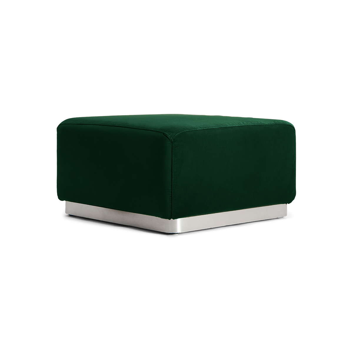Rotondo Footstool in Fir Green Velvet