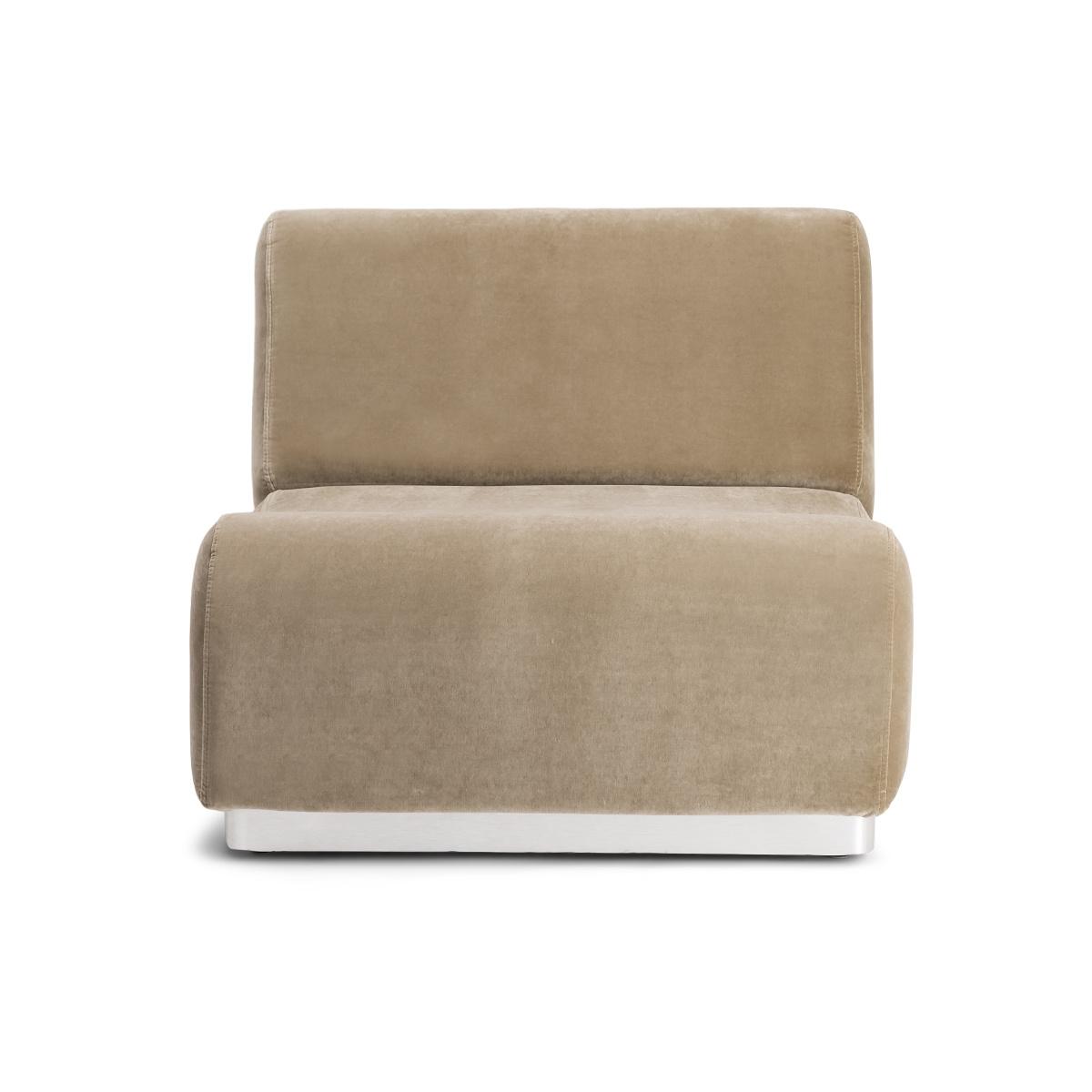 Rotondo Fireside Chair in Camel Velvet