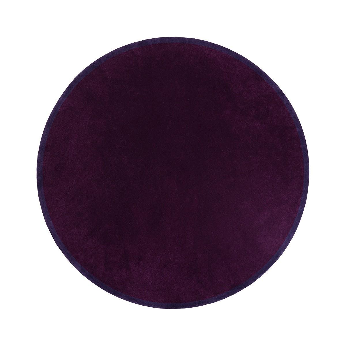Luna Purple Round Rug