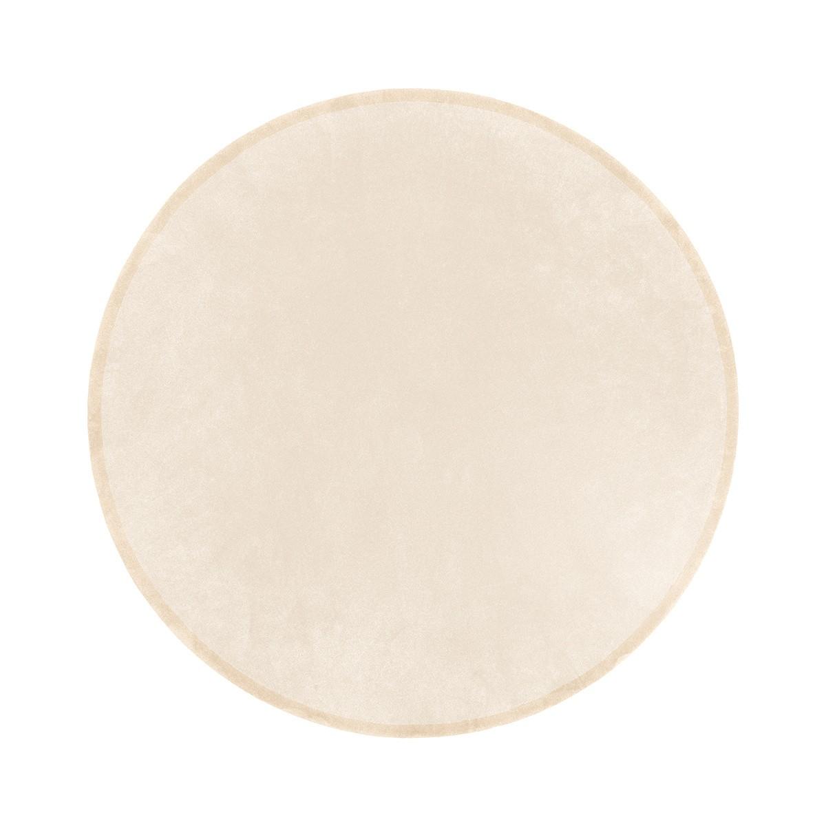 Luna Cream White Round Rug