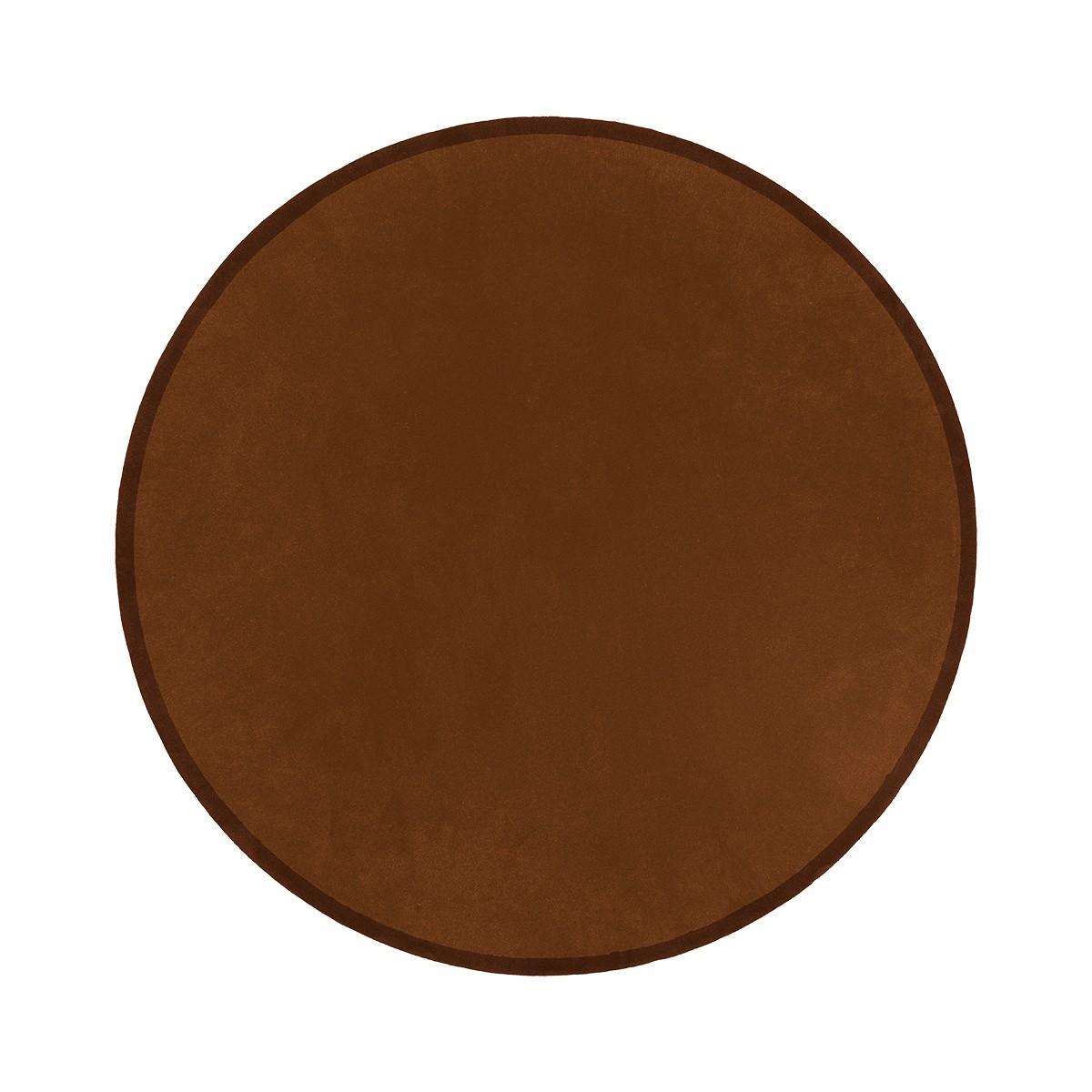 Luna Chocolate Round Rug