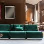 Rotondo Modular Sofa in Fir Green Velvet