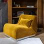 Rotondo Fireside Chair in Mustard Velvet