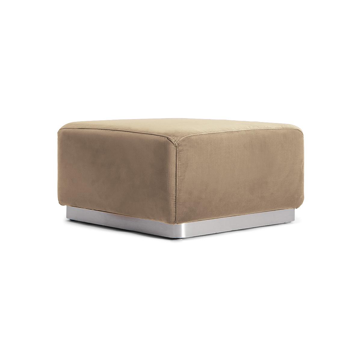 Rotondo Footstool in Camel Velvet