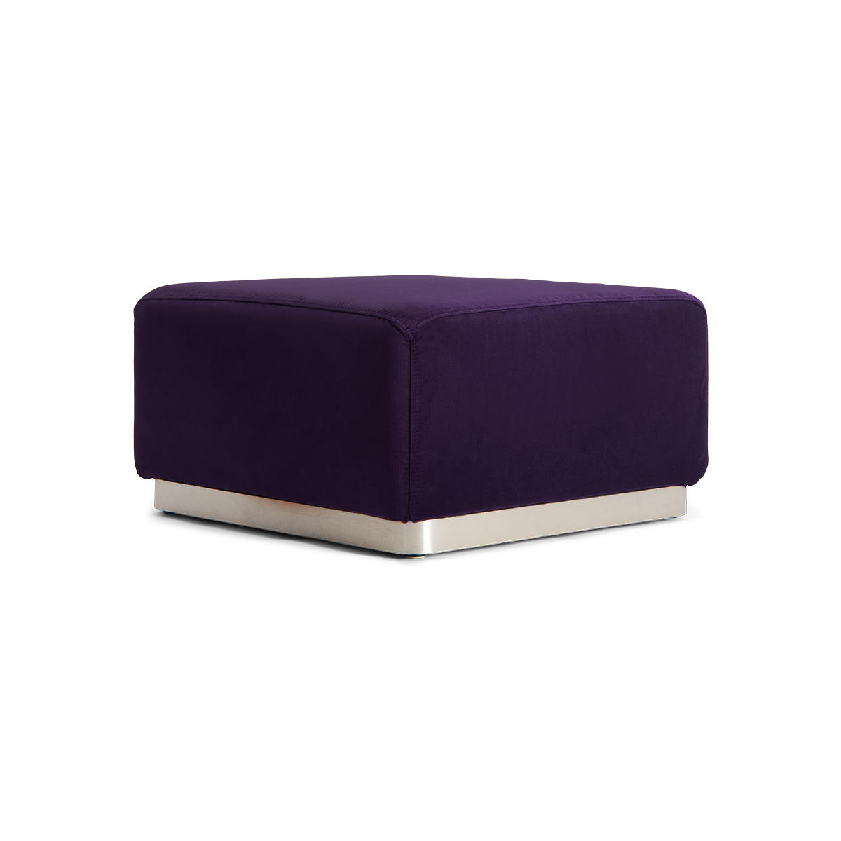 Rotondo Footstool in Plum Velvet