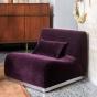 Rotondo Fireside Chair in Plum Velvet