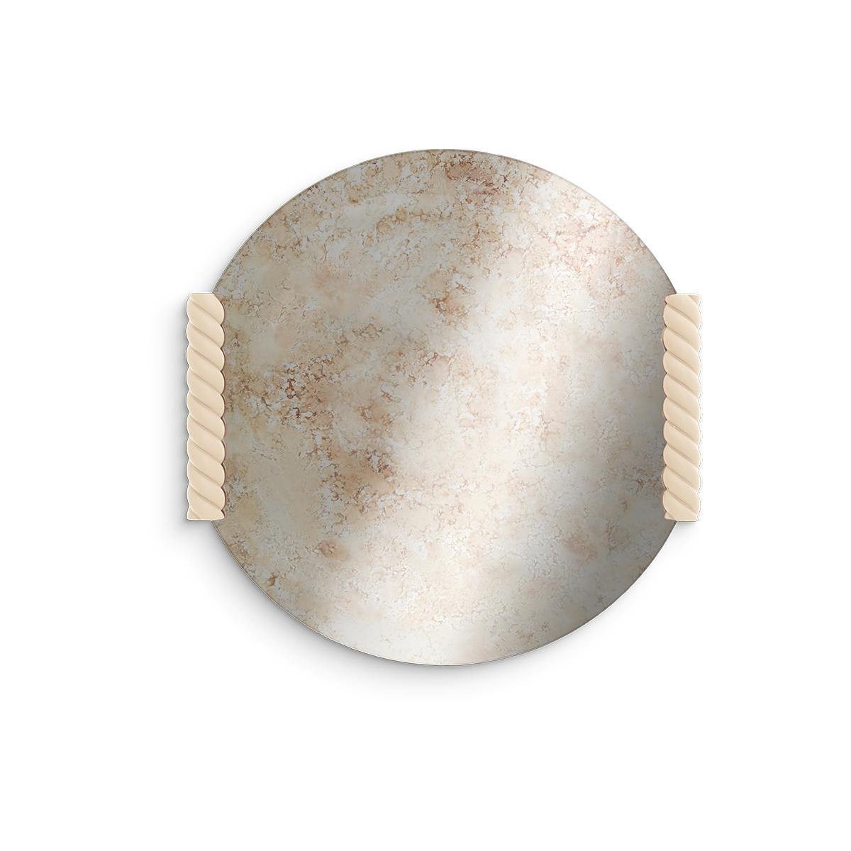 Paris-Milano Sand Colour Round Mirror - Cristina Celestino for The Socialite Family