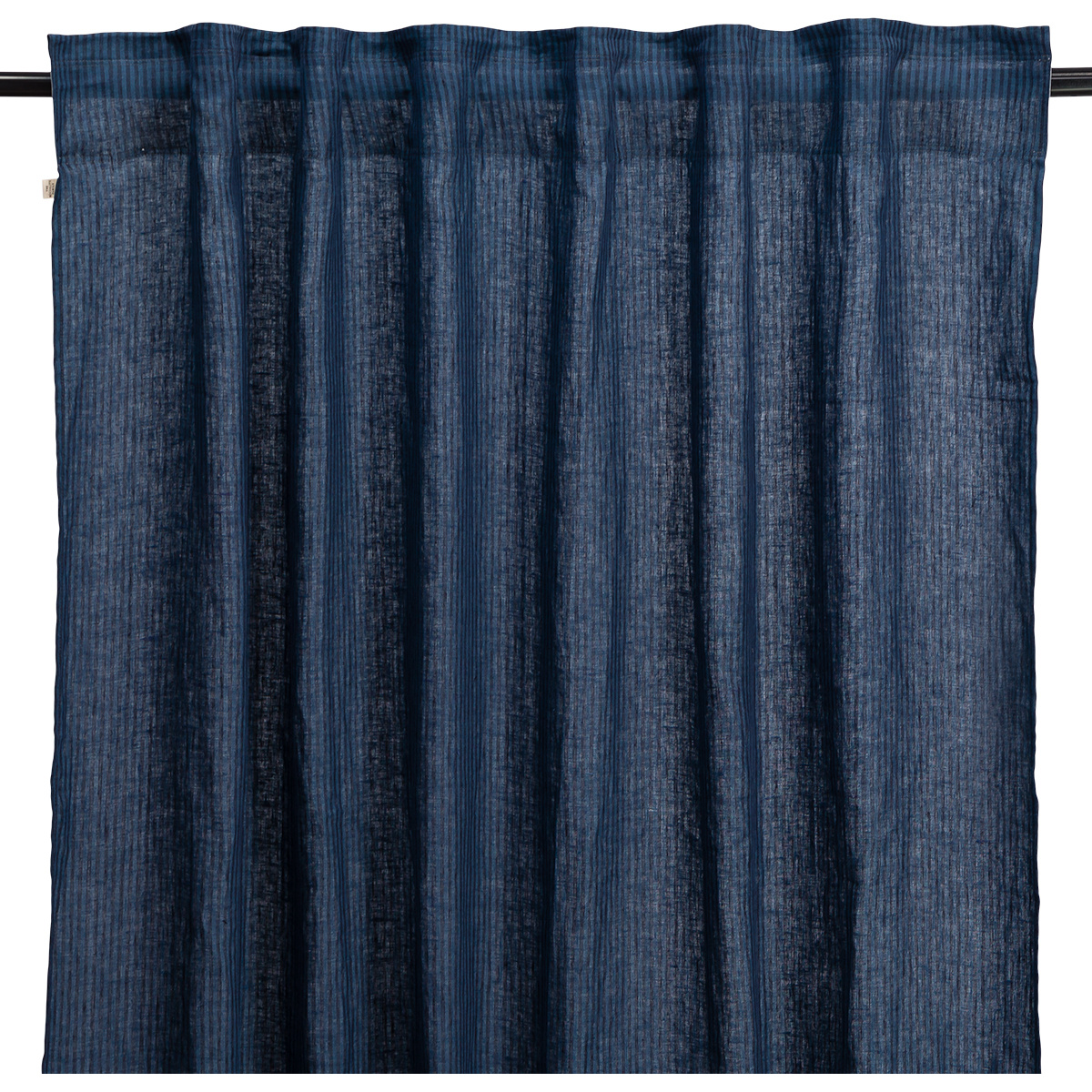 Mare Black and Blue Striped Curtain