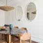 Cream White Lacquered Marcello Mirror