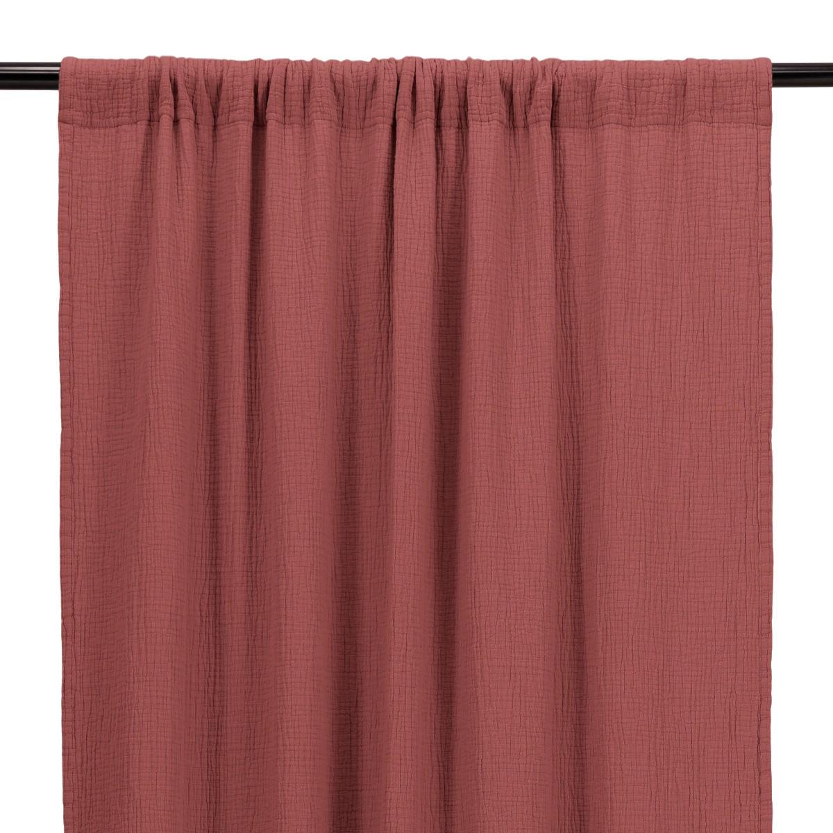 Brick Red Cotton Gauze Bambina Curtain