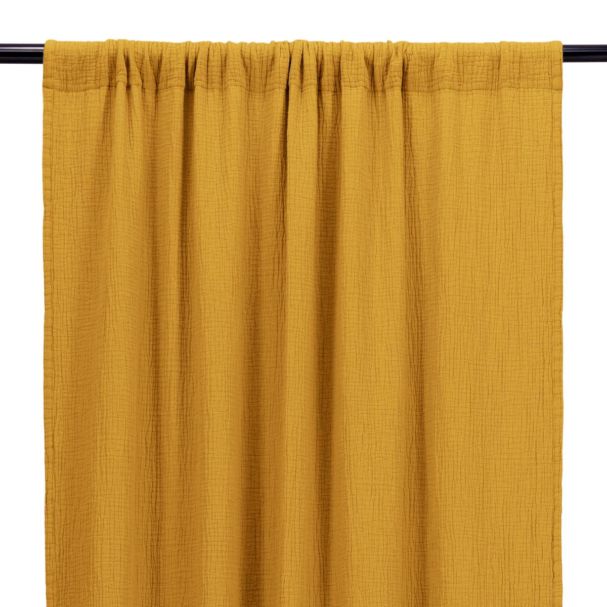 Mustard Cotton Gauze Bambina Curtain