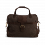 Andrea travel bag in mocha canvas and chocolate leather