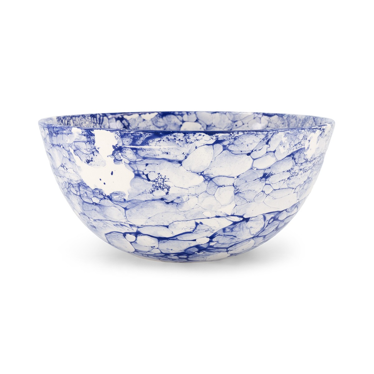 Large Blue Bolle Salad Bowl