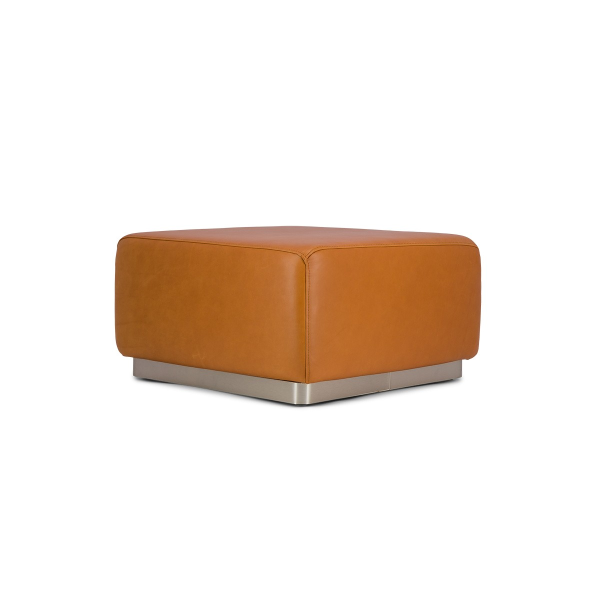 Rotondo Footstool in Camel Leather