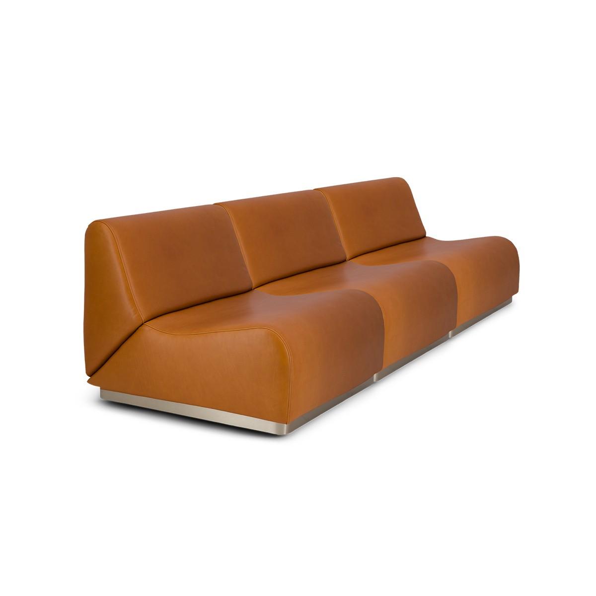 Rotondo Sofa in Camel Leather
