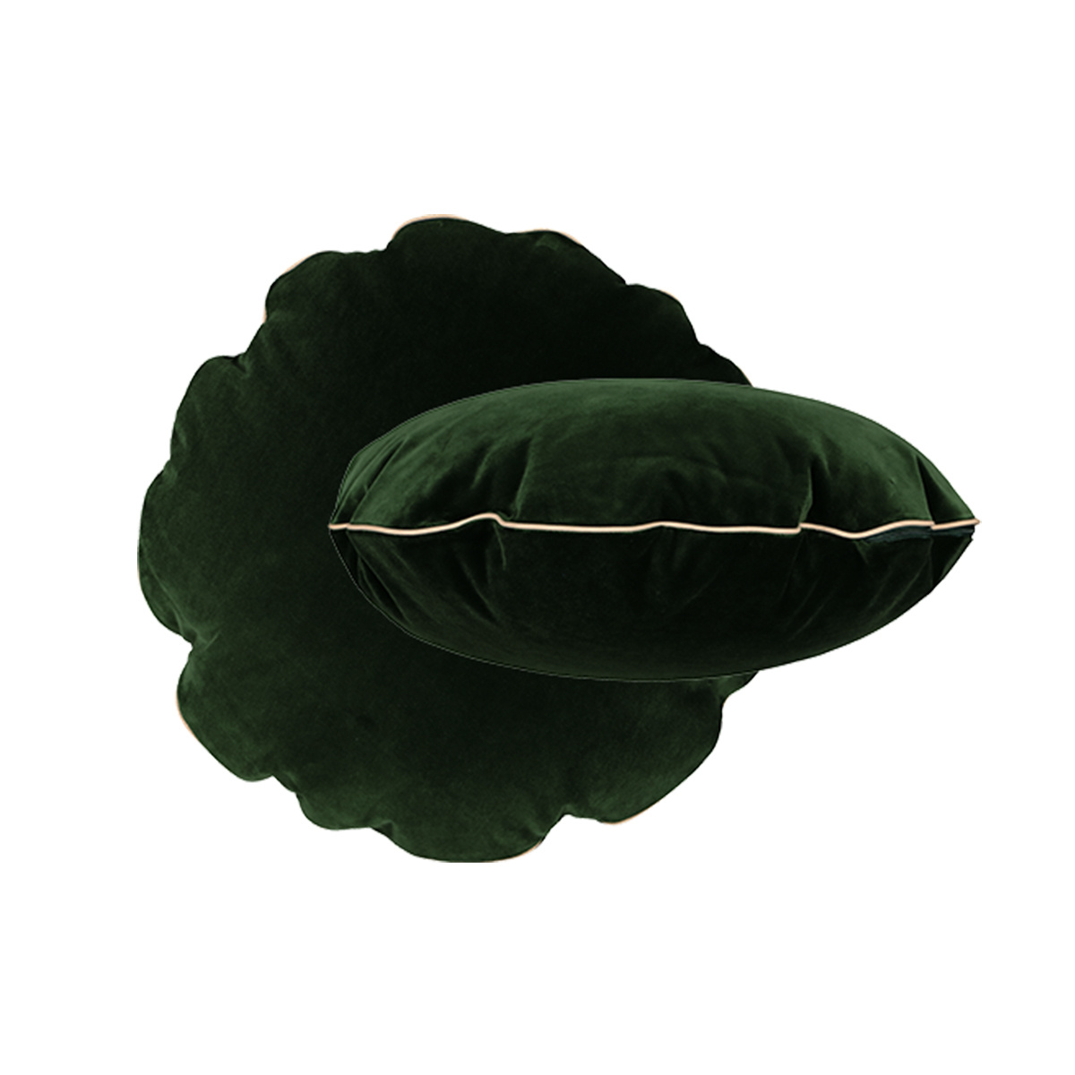 Bomboloni Cushion, Fir Green Velvet