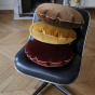 Bomboloni Cushion, Mustard Velvet