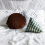 Bomboloni Cushion, Brown Velvet