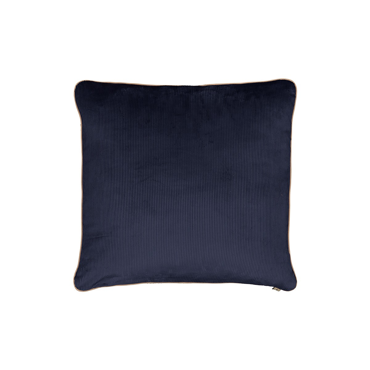 Coussin Carino velours côtelé bleu marine