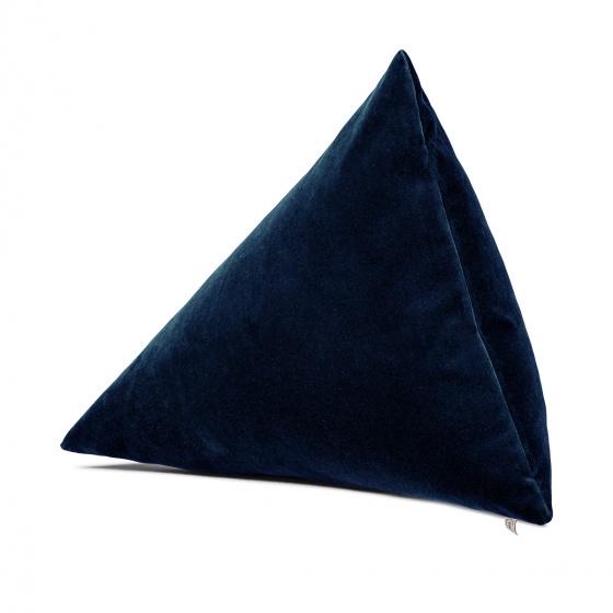 Coussin Divino velours bleu marine