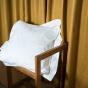 Taie d'oreiller Venezia blanc crème