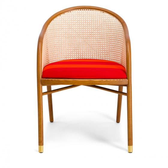 Fauteuil Cavallo brun Kvadrat/Raf Simons orange