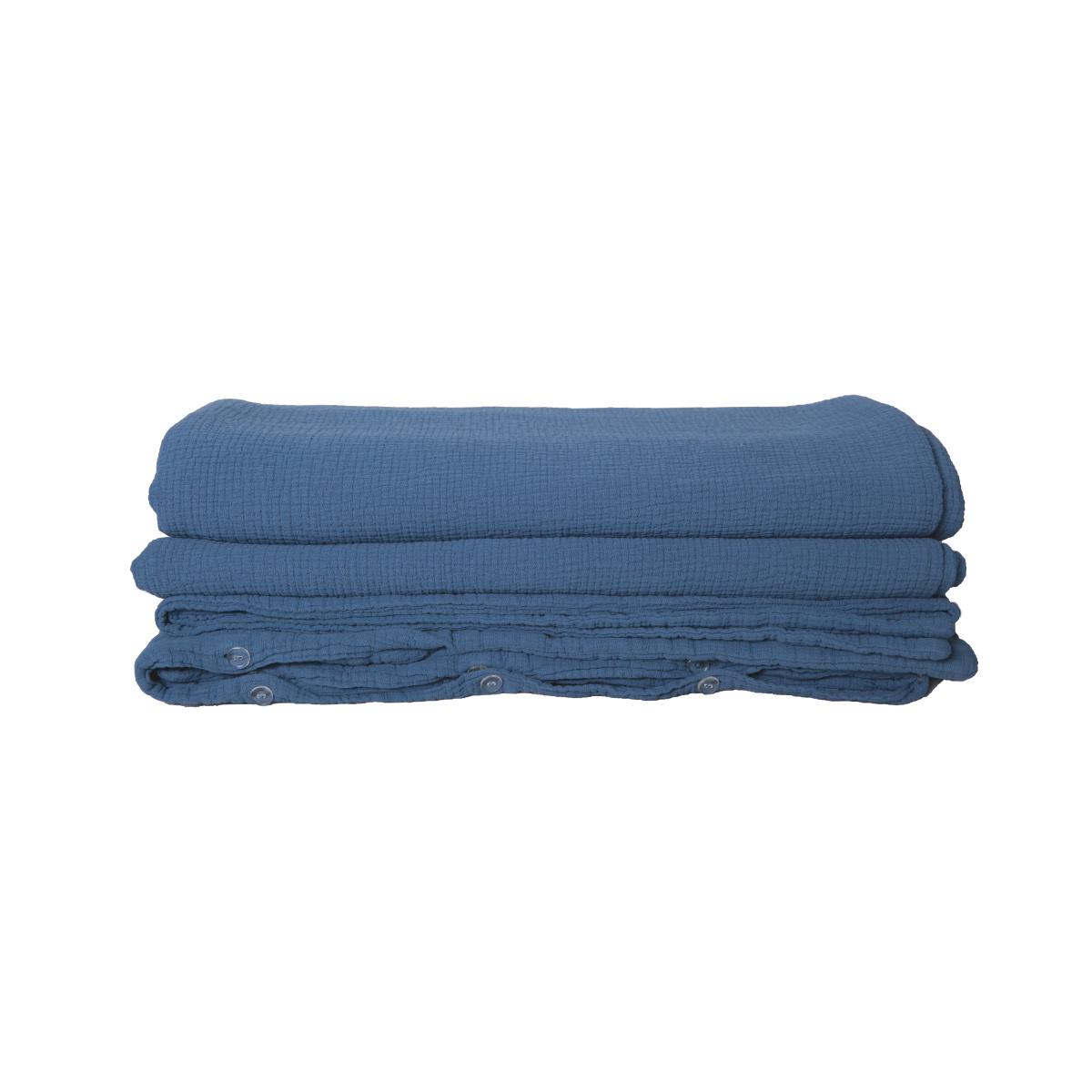 Housse de couette Como bleue