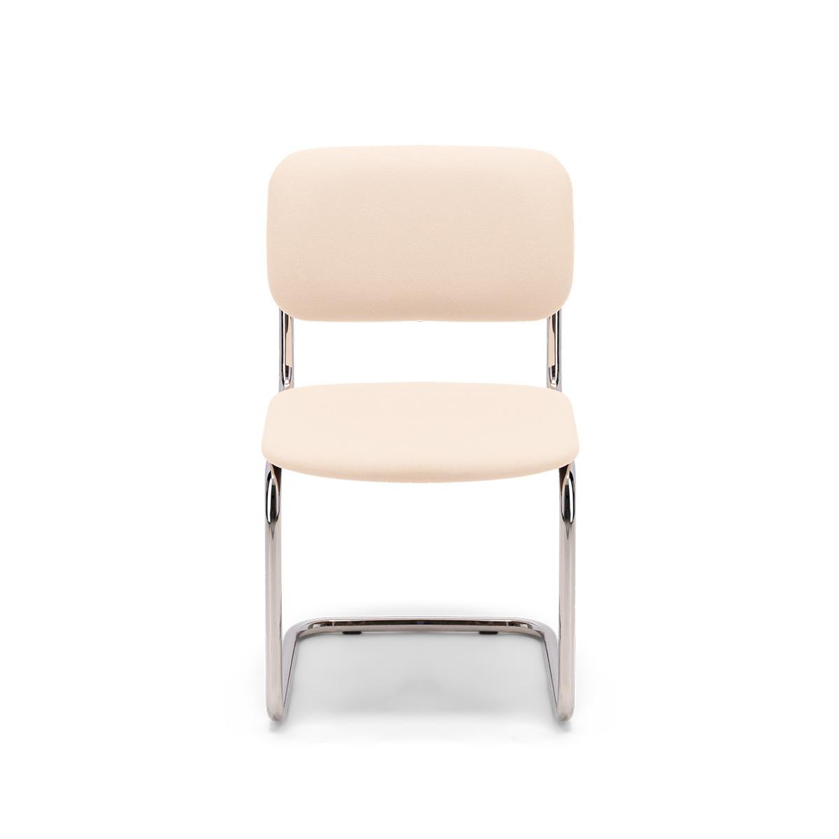 Chaise Classica feutre blanc crème