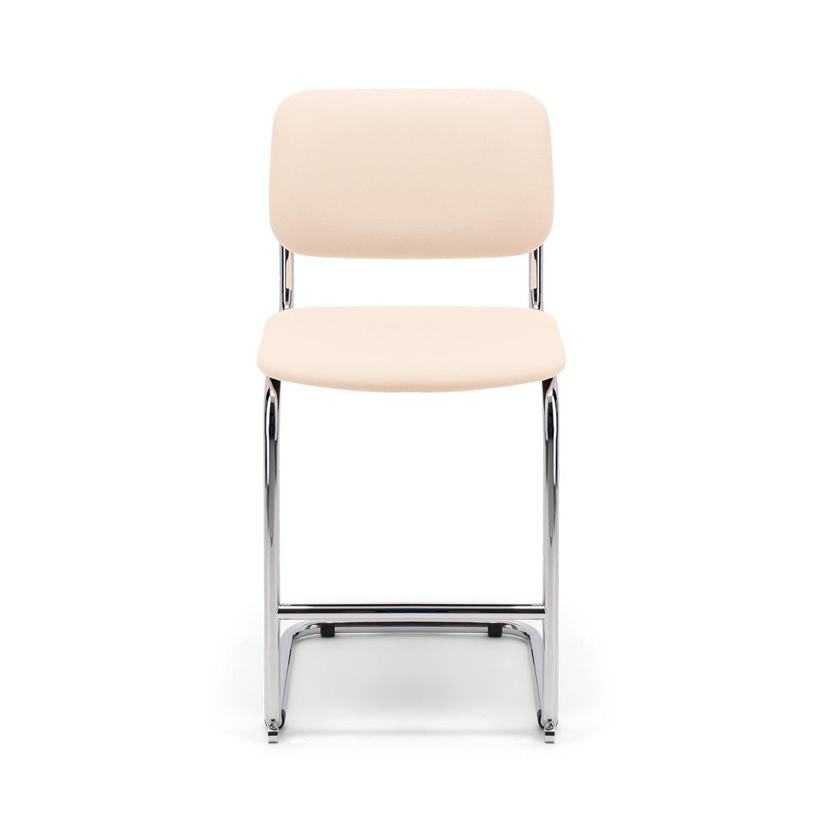 Chaise de bar Classica feutre blanc crème