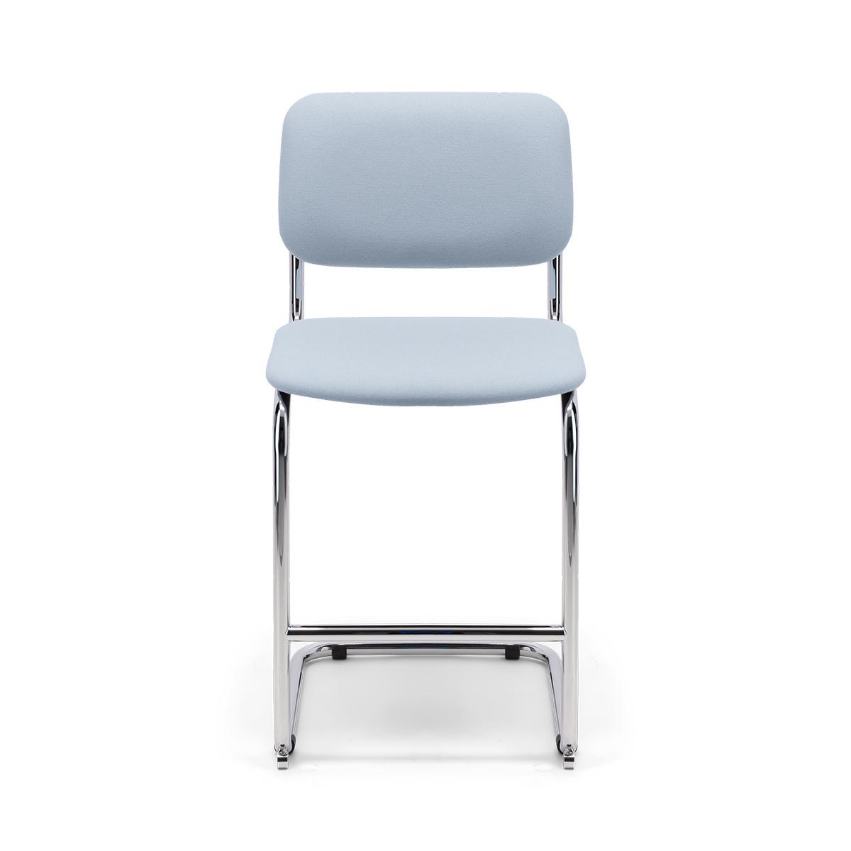 Chaise de bar Classica feutre bleu pastel